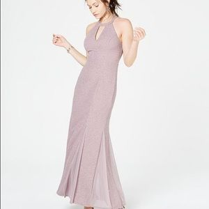 Glitter-Knit Teardrop Gown (Champagne)